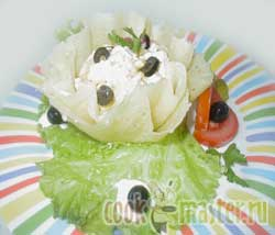 Салат в сырных корзиночках