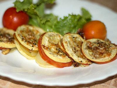 кабачки в духовке кружками рецепт